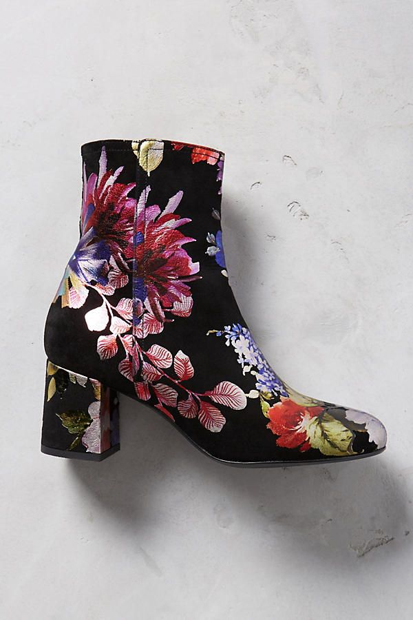 Miss L Fire Floral Printed Boots