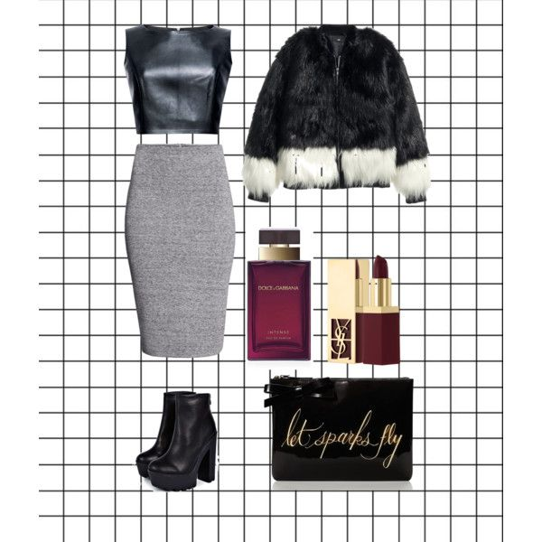 A fashion look from December 2014 featuring H&M jackets, H&M skirts and Boohoo boots. Browse and shop related looks.