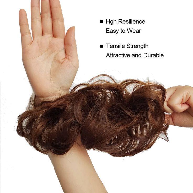 Elastic Messy Bun Hair Piece Curly Hair Scrunchie Updo