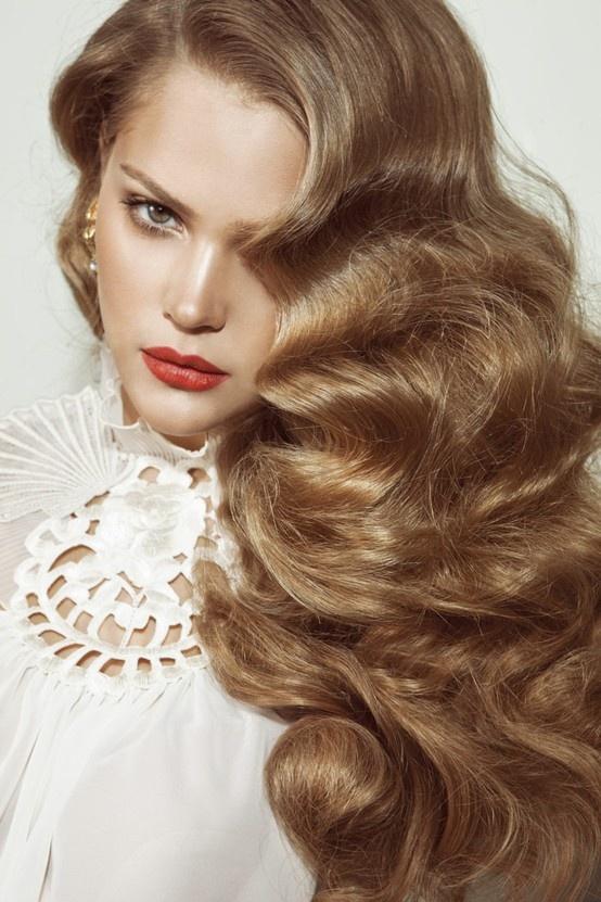 pin curls #gorgeous