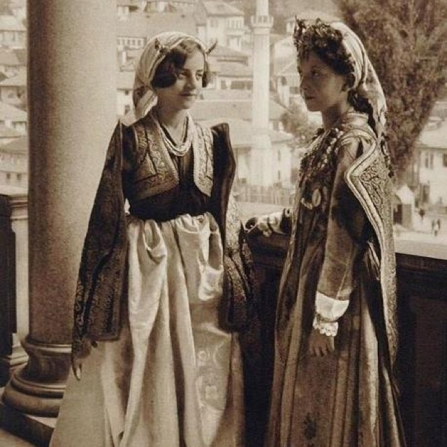 Bosnian traditional clothing, 1926 Sarajevo. http://wiki.royalfamily.ba/wiki/Bosnia