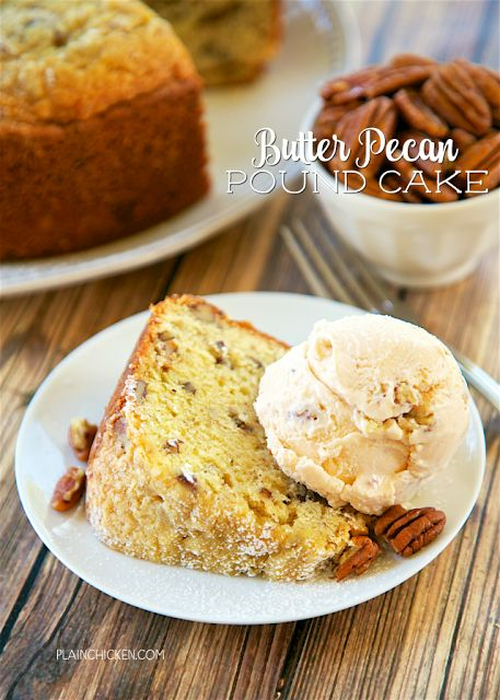 Butter Pecan Pound Cake | Butter pecan, Pound cakes and ...