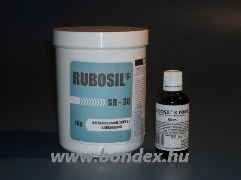 Szilikon szett édesipari formákhoz otthoni célra Rubosil SR-30