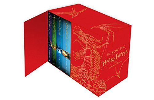A boxed set containing all seven Harry Potter novels in hardback. These new editions of the classic and internationally bestselling, multi-award-winning series feature instantly pick-up-able new jackets by Jonny Duddle, with huge child appeal, to bring Harry Potter to the next generation of readers.