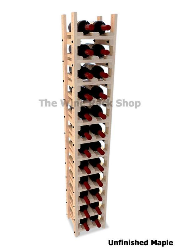 Tall And Narrow Wood Wine Rack Wine Storage For 24 Bottles Etsy