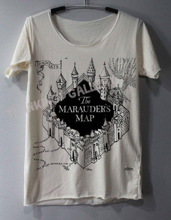 The Marauder's Map Shirt Harry Potter Map Shirts TShirt T Shirt Tee Shirts - Size S M L