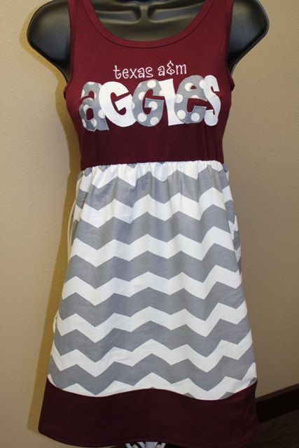 Hey, I found this really awesome Etsy listing at http://www.etsy.com/listing/126567411/texas-am-aggies-game-day-dress
