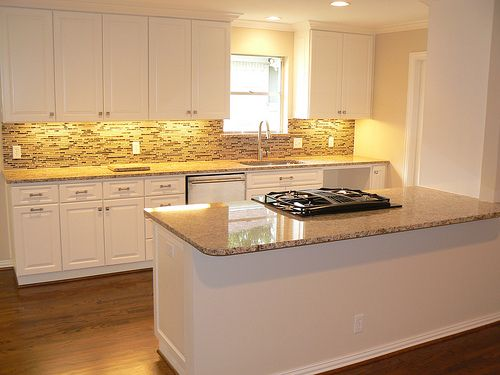 how to end backsplash on open wall