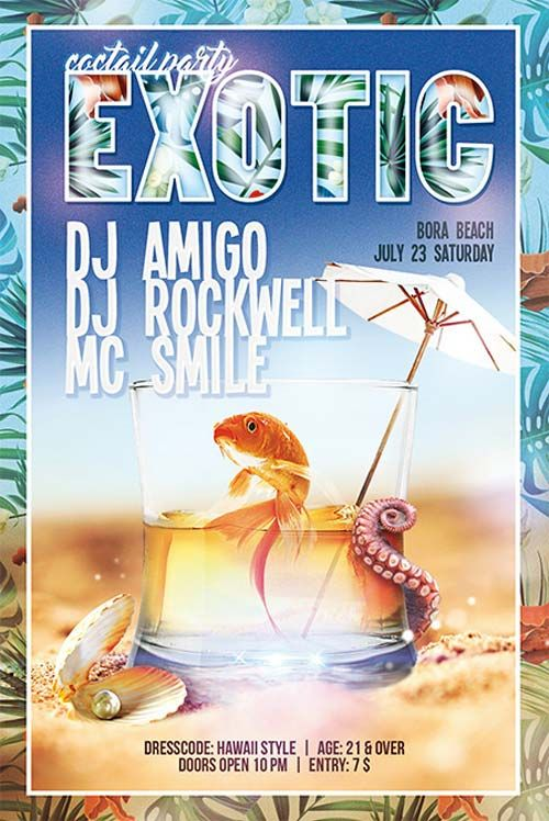 "Plantilla gratis PSD ""Exotic Cocktail Party"""