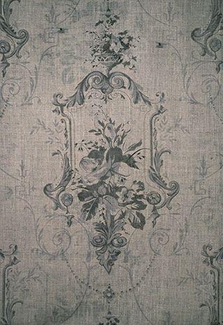 antique wallpaper detail