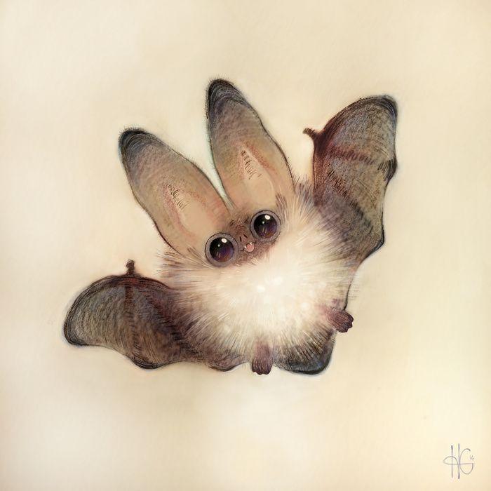 esto es la representación dibujada de la ternura de un murciélago