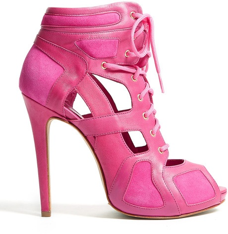 Mcq By Alexander Mcqueen Sport Cut Out Shoes in hot Pink www.finditforweddings.com