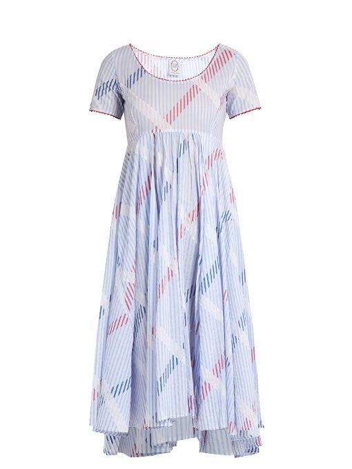 Thierry Colson Romy stripe-print cotton-voile dress