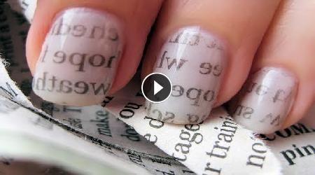 Nail Art- Stile lettere da giornale
