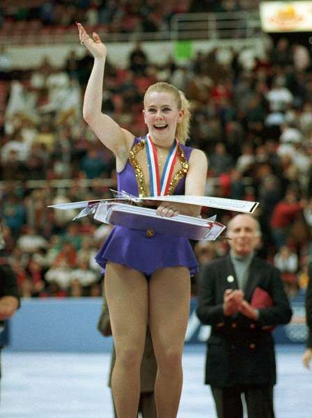 Today In History: January 8:     1994: Tonya Harding championship controversy  -   Tonya Harding wins the ladies' U.S. Figure Skating Championship in Detroit, MI, a day after Nancy Kerrigan drops out because of a clubbing attack that injured her right knee. The U.S. Figure Skating Association later took the title from Harding because of her involvement in the attack.