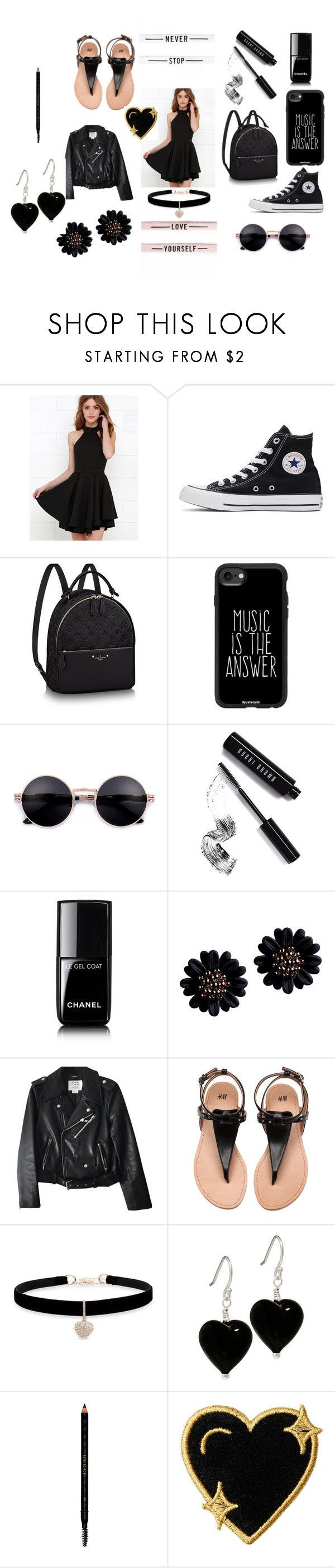 """first date in honeymoon"" by jaz-melendrez ❤ liked on Polyvore featuring Converse, Casetify, Bobbi Brown Cosmetics, Chanel, Kate Spade, Betsey Johnson, Gucci and Stoney Clover Lane"