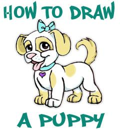 how to draw a sad puppy dog face