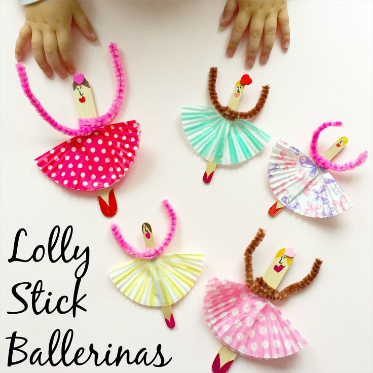 Lolly Stick Ballerinas, a super simple and fun kids craft!
