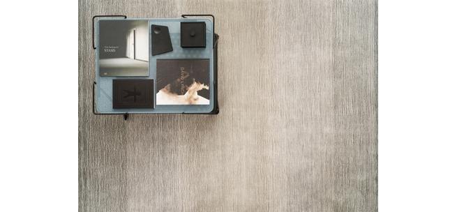 Viskose-Teppich Graduation grau, ca. 170x240 cm, handgetuftet - von Spitzhüttl Home Company