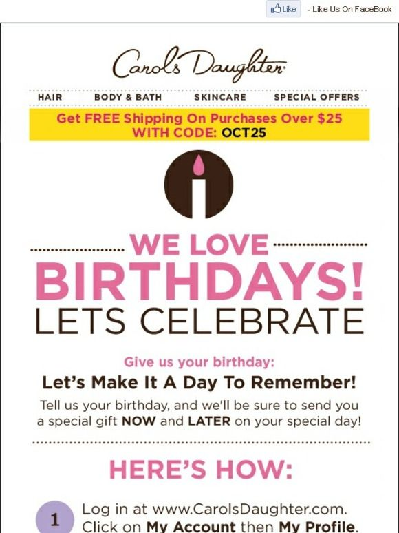 Give Us Your Birthday Today Get A Gift Now AND Later