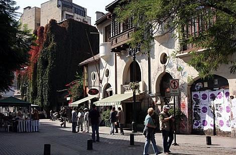 Barrio Lastarria, Santiago, Chile.