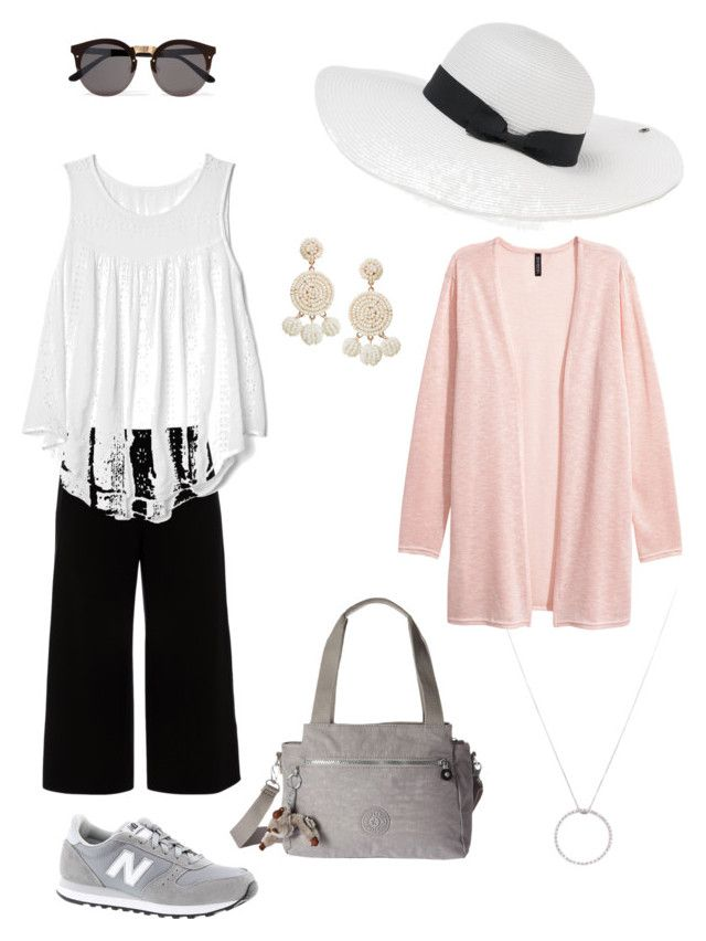 """""""Summer 2017 #2"""" by maureen-meslin on Polyvore featuring mode, Lafayette 148 New York, New Balance, Kipling, Gap, Illesteva, Peter Grimm, Humble Chic et Roberto Coin"""