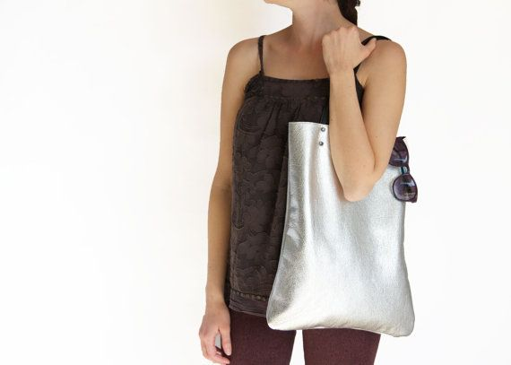 SILVER MOON  tote bag everyday Leather tote bag von LeahLerner, $98.00