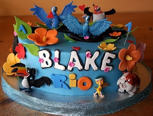 Rio Movie Birthday Cake and Cupcakes: Cakes Ideas, Birds Cakes, Rio Cakes, Rio Birthday, Rio Movie, Art Cakes, Rio Parties, Birthday Cakes, Birthday Ideas