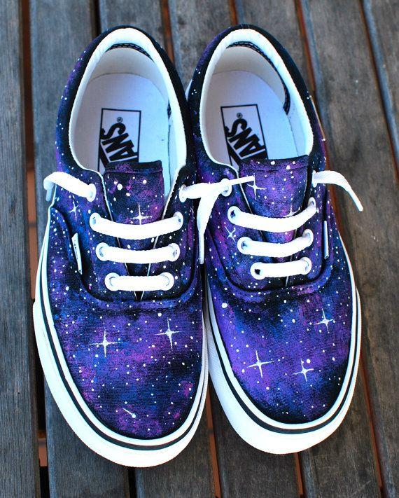 Zapatos personalizados de galaxia Vans Era por BStreetShoes en Etsy