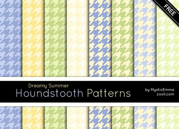 Goodies: Dreamy Summer Houndstooth Patterns #free #patterns #photoshoppatterns