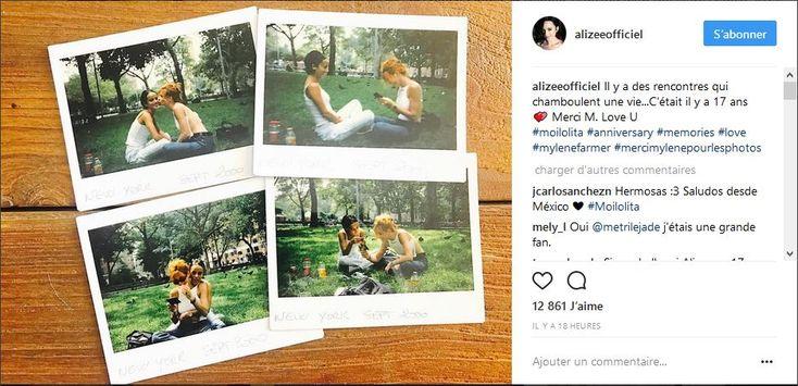 Actu : Alizée et Mylène Farmer complices sur Instagram des clichés rares dévoilés (PHOTO)