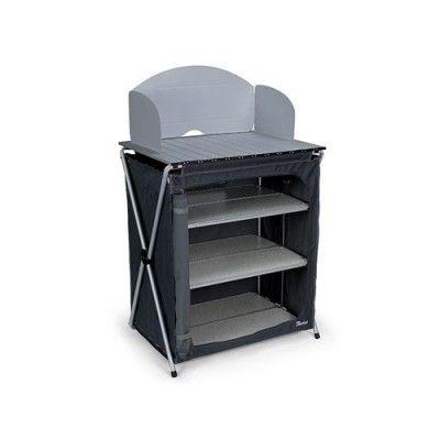 Per un campeggio organizzato questo mobile è l'ideale ,  Occupa poco spazio e aperto diventa la tua base per la cucina . Mobile Cucina Campeggio con 4 Ripiani Flex 70 Bertoni