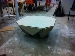 Strong Origami Inspired Table Made Of Honeycomb Paper U2013 Miura Table ·  Cardboard ChairCardboard ...