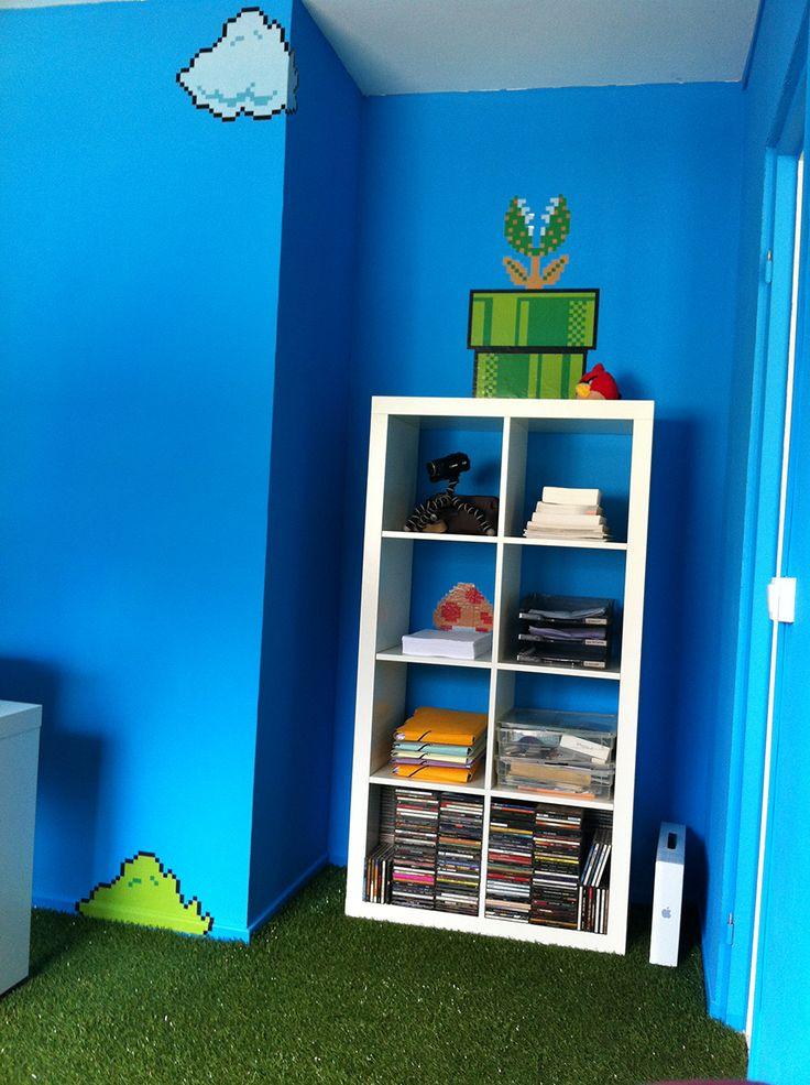 30 best mario bedroom ideas images on pinterest bedroom ideas play rooms and boy nurseries - Deco chambre mario ...
