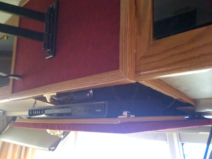 diy remove box tv from cab completely and add a drop down dvd player shelf flatscreen in it. Black Bedroom Furniture Sets. Home Design Ideas