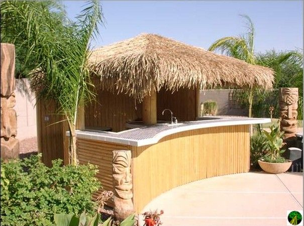 Thatch Tiki Bar For Bbq Island Patio Ideas Pinterest