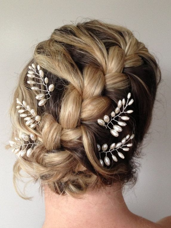 Bridesmaid hair, different clips though