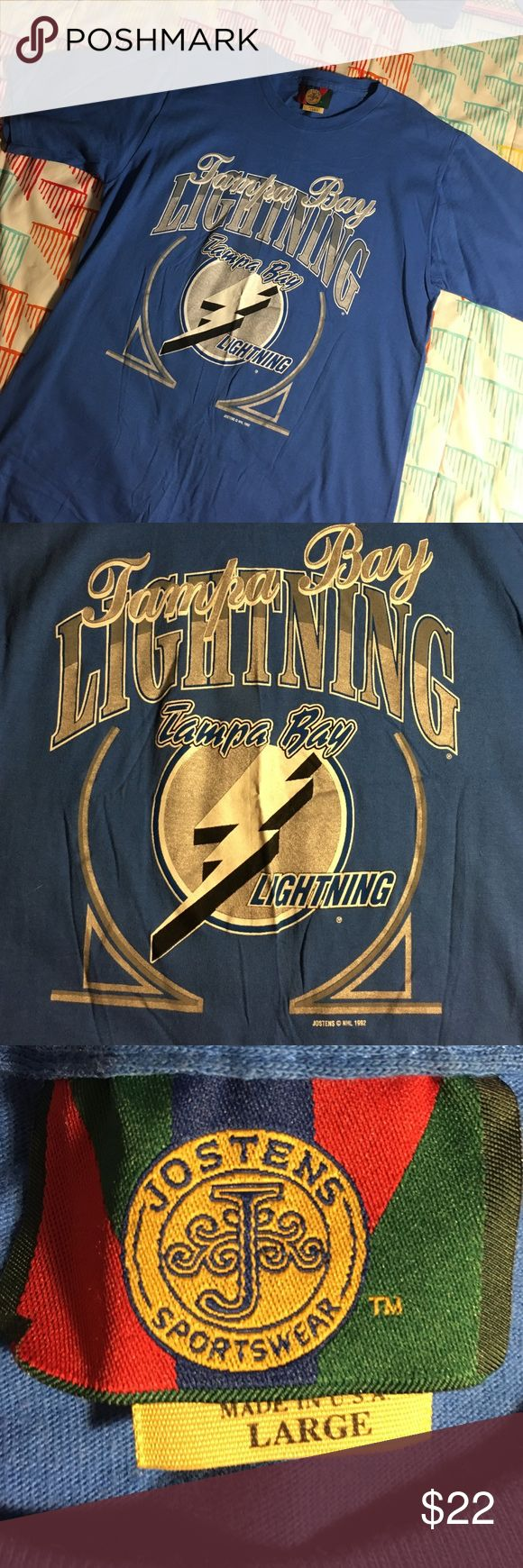 Vintage Tampa Bay Lighting 1992 Hockey Shirt Men's Large - Excellent condition jostens  Shirts Tees - Short Sleeve