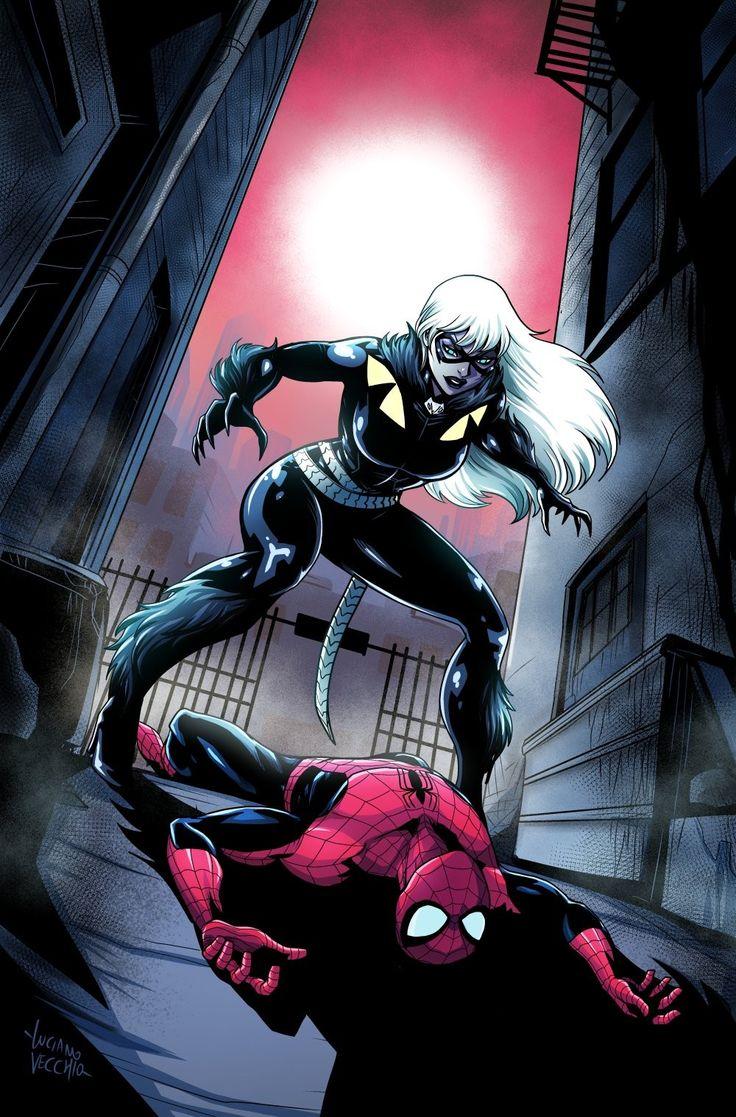 spiderman black cat - 725×1101