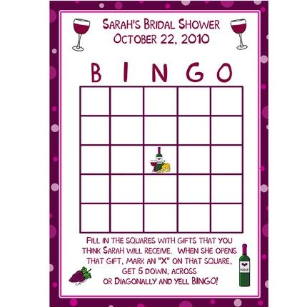 Wine-themed Bridal Shower game idea!