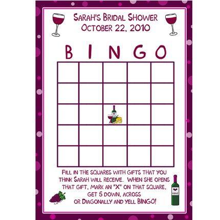 17 Best ideas about Bridal Shower Bingo on Pinterest Shower