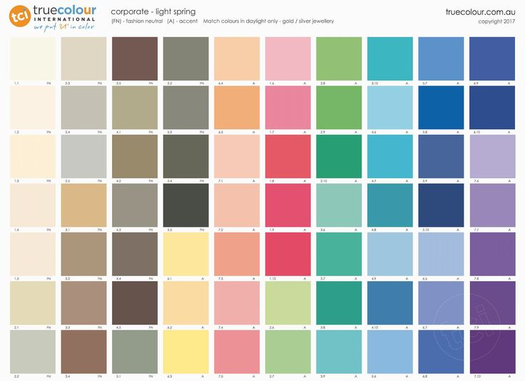 TCI 12 Tone LIGHT SPRING - CORPORATE Palette Poster.