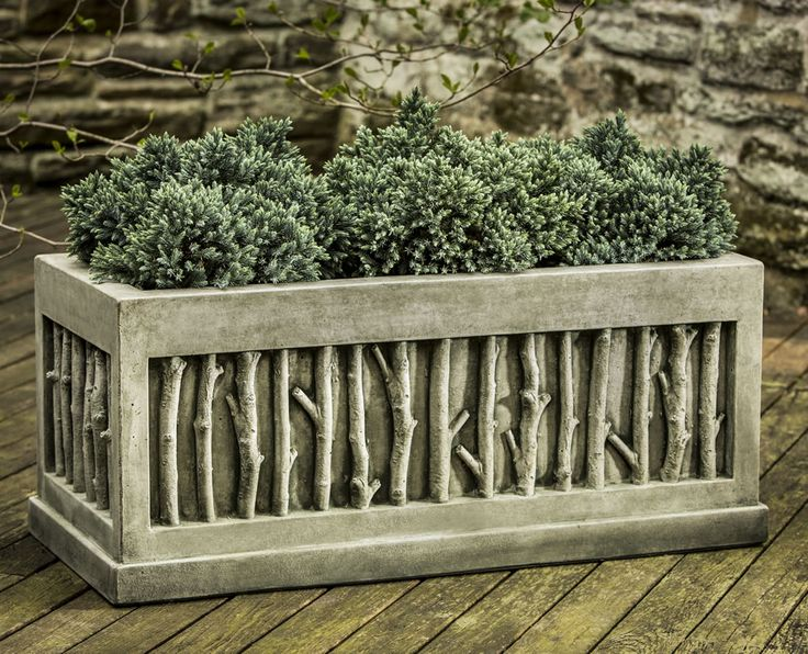 Birches Cast Stone Large Window Box Made By Campania International