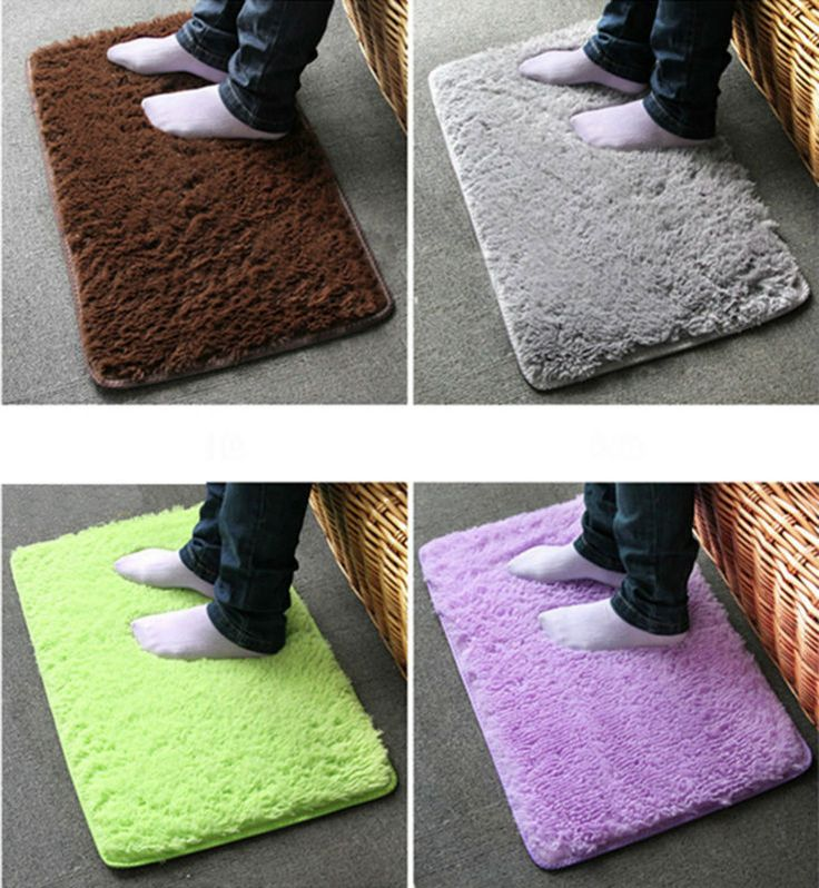 Bath Mats Rugs And Toilet Lid Covers In Color Green