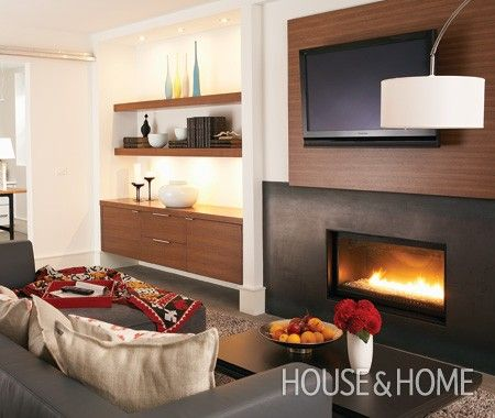 Photo Gallery: Budget Basement Decorating Tips   House & Home  Floating shelves