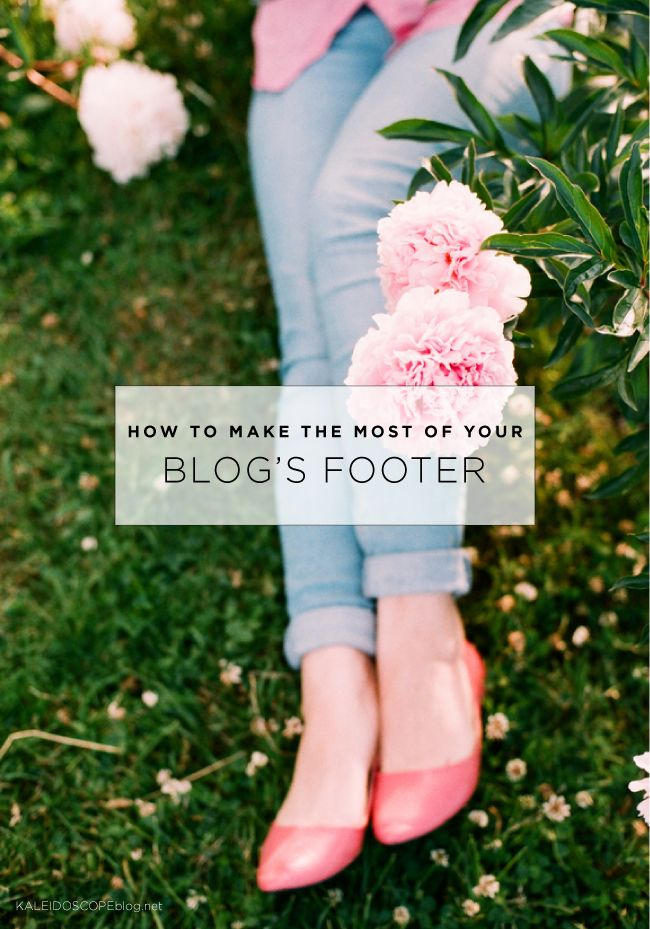 How to make the most of your Blog's Footer | Kaleidoscope
