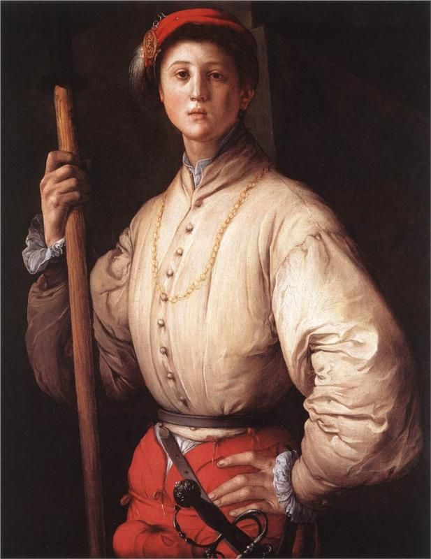 Jacopo Carucci (1494 – 1557) Pontormo, was an Italian Mannerist painter and portraitist from the Florentine School   Halberdier, 1530 Jacopo Pontormo