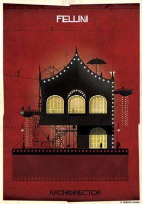 "Federico Babina - from series ""Archidirectors"" - Fellini -  http://federicobabina.com/"