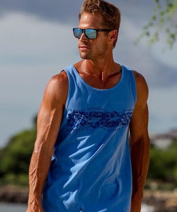 Tribal Mano Blue Hawaii Tank Top. | www.crazyshirts.com