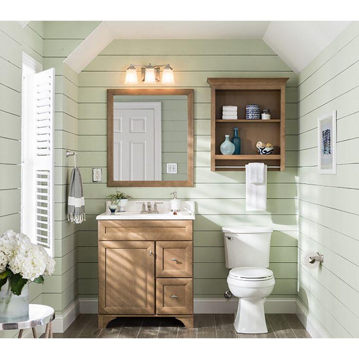 Shop Diamond Hanbury Tuscan Traditional Poplar Bathroom Vanity Common 36 In X 21 In Actual